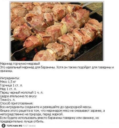 Рецепт шашлыка из свинины с медом